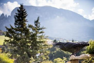 Dolomites mountains and crow