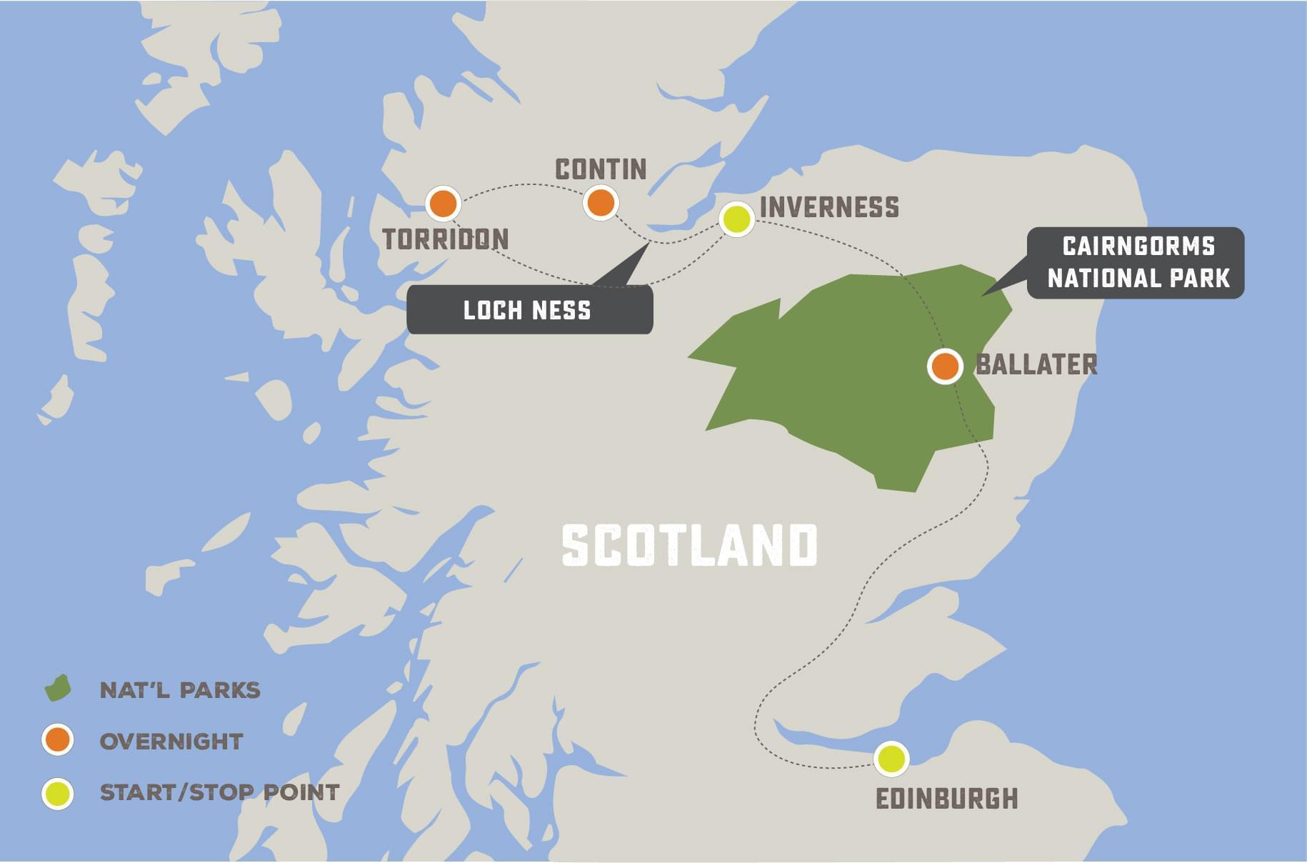 Enchanted Scotland - Trip Map