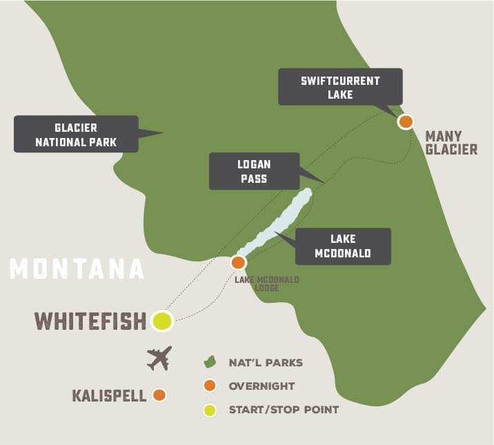 Exploring Glacier National Park - Trip Map
