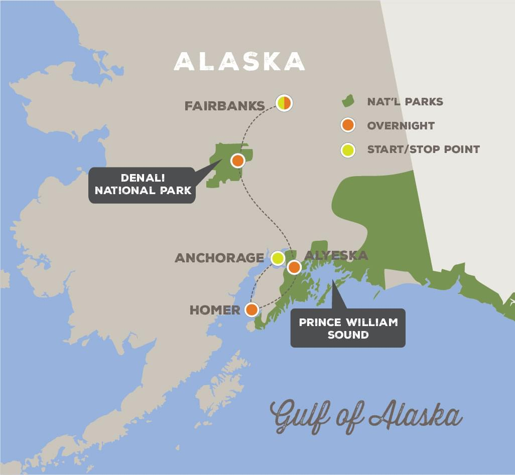 Great Alaska Expedition - Trip Map