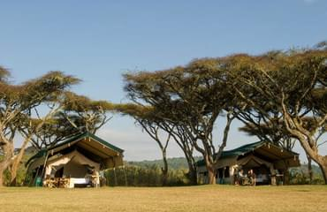 ten canvas tents at Ngorongoro