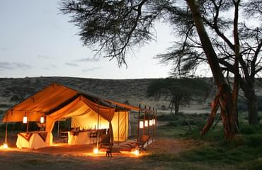 Evening at the Maasai Mara camp