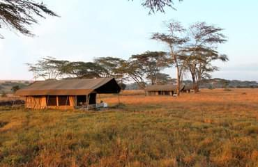Private safari camp in the Mara Conservancy
